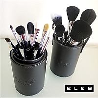 15-PIECE MAKEUP BRUSH SET & HOLDER